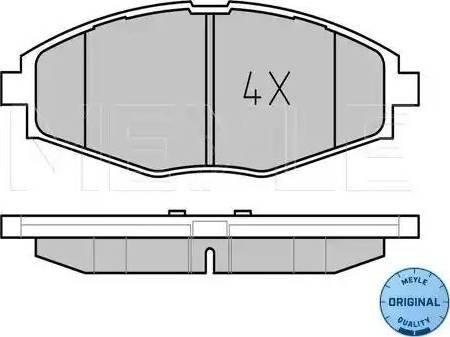 Meyle 025 232 4117 - Kit de plaquettes de frein, frein à disque www.widencarpieces.com