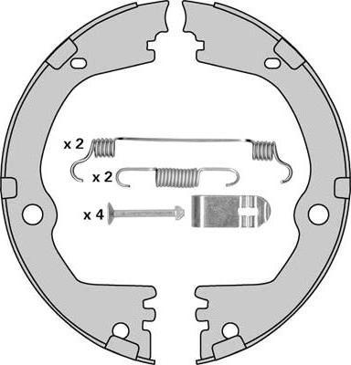 MGA M955R - Jeu de mâchoires de frein, frein de stationnement www.widencarpieces.com