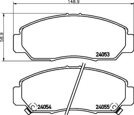 Mintex MDB2541 - Kit de plaquettes de frein, frein à disque www.widencarpieces.com