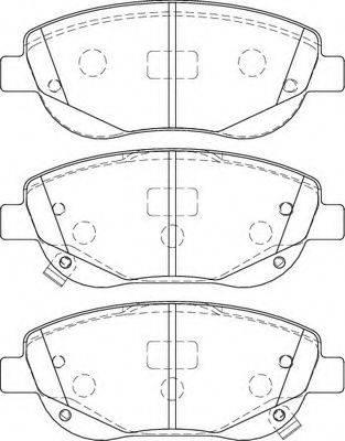 Necto FD7463A - Kit de plaquettes de frein, frein à disque www.widencarpieces.com