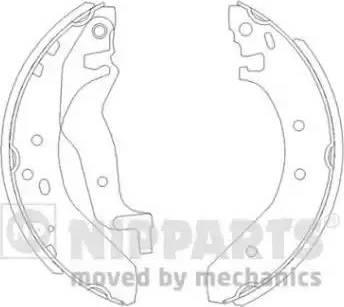 Nipparts J3504015 - Jeu de freins, freins à tambour www.widencarpieces.com