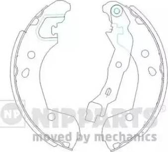 Nipparts J3501055 - Jeu de freins, freins à tambour www.widencarpieces.com