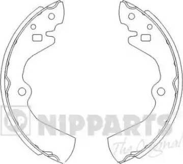 Nipparts J3501034 - Jeu de freins, freins à tambour www.widencarpieces.com