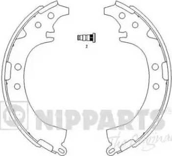 Nipparts J3502050 - Jeu de freins, freins à tambour www.widencarpieces.com