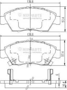 Nipparts J3604033 - Kit de plaquettes de frein, frein à disque www.widencarpieces.com