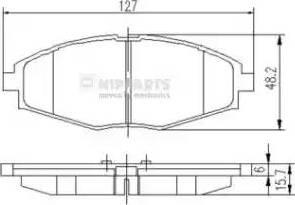 Nipparts J3600909 - Kit de plaquettes de frein, frein à disque www.widencarpieces.com