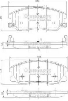 Nipparts J3600913 - Kit de plaquettes de frein, frein à disque www.widencarpieces.com