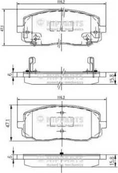 Nipparts J3600323 - Kit de plaquettes de frein, frein à disque www.widencarpieces.com