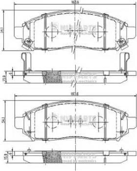 Nipparts J3601095 - Kit de plaquettes de frein, frein à disque www.widencarpieces.com