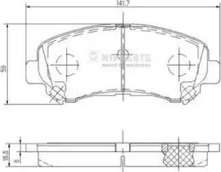 Nipparts J3601096 - Kit de plaquettes de frein, frein à disque www.widencarpieces.com