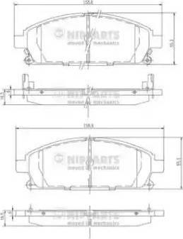 Nipparts J3601071 - Kit de plaquettes de frein, frein à disque www.widencarpieces.com
