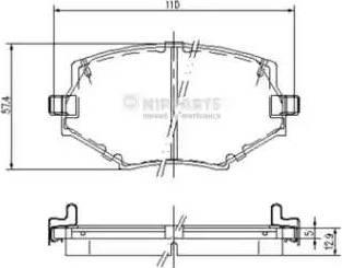 Nipparts J3603044 - Kit de plaquettes de frein, frein à disque www.widencarpieces.com