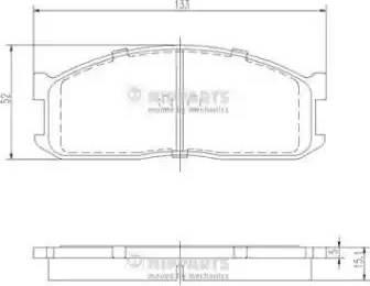 Nipparts J3603025 - Kit de plaquettes de frein, frein à disque www.widencarpieces.com