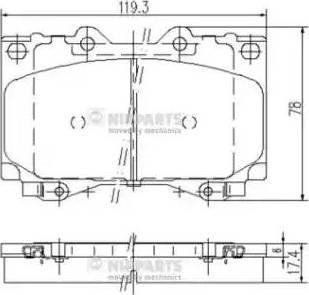 Nipparts J3602097 - Kit de plaquettes de frein, frein à disque www.widencarpieces.com