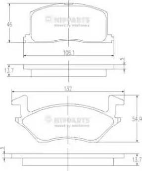 Nipparts J3602057 - Kit de plaquettes de frein, frein à disque www.widencarpieces.com