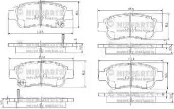 Nipparts J3602086 - Kit de plaquettes de frein, frein à disque www.widencarpieces.com