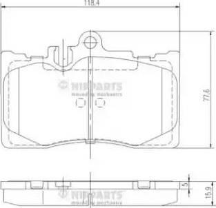 Nipparts J3602111 - Kit de plaquettes de frein, frein à disque www.widencarpieces.com