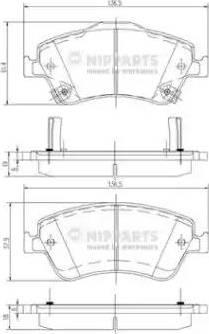 Nipparts J3602124 - Kit de plaquettes de frein, frein à disque www.widencarpieces.com
