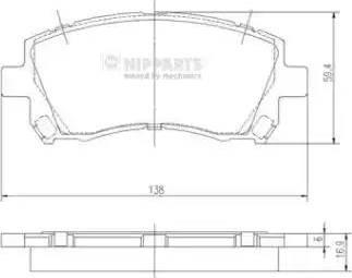 Nipparts J3607013 - Kit de plaquettes de frein, frein à disque www.widencarpieces.com