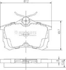 Nipparts J3614015 - Kit de plaquettes de frein, frein à disque www.widencarpieces.com