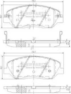 Nipparts N3605051 - Kit de plaquettes de frein, frein à disque www.widencarpieces.com