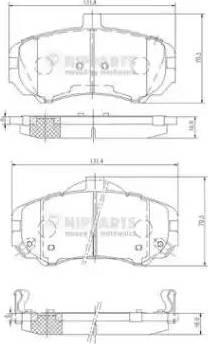 Nipparts N3600544 - Kit de plaquettes de frein, frein à disque www.widencarpieces.com