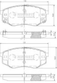 Nipparts N3600545 - Kit de plaquettes de frein, frein à disque www.widencarpieces.com