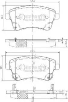 Nipparts N3600331 - Kit de plaquettes de frein, frein à disque www.widencarpieces.com