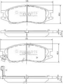 Nipparts N3601097 - Kit de plaquettes de frein, frein à disque www.widencarpieces.com