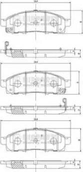 Nipparts N3601101 - Kit de plaquettes de frein, frein à disque www.widencarpieces.com