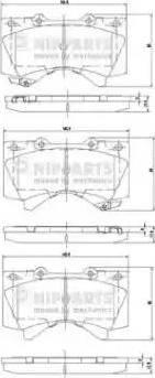 Nipparts N3602136 - Kit de plaquettes de frein, frein à disque www.widencarpieces.com