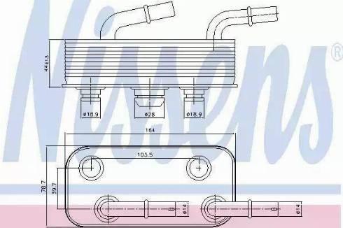 Nissens 90657 - Radiateur d'huile de boîte automatique www.widencarpieces.com