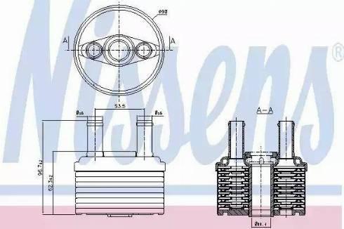Nissens 90664 - Radiateur d'huile de boîte automatique www.widencarpieces.com