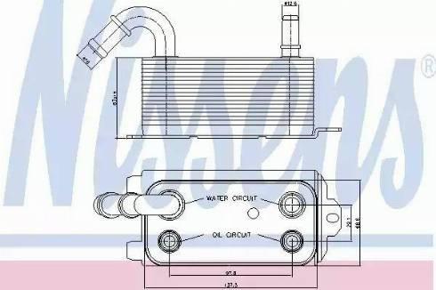 Nissens 90661 - Radiateur d'huile de boîte automatique www.widencarpieces.com