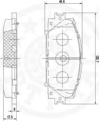 Optimal 12360 - Kit de plaquettes de frein, frein à disque www.widencarpieces.com