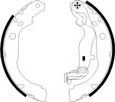Pagid H1836 - Jeu de freins, freins à tambour www.widencarpieces.com