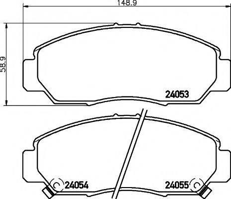 Pagid T1411 - Kit de plaquettes de frein, frein à disque www.widencarpieces.com