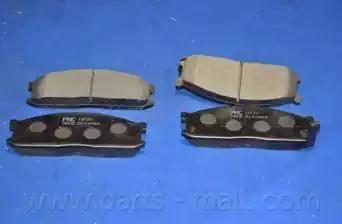 Parts-Mall PKB-004 - Kit de plaquettes de frein, frein à disque www.widencarpieces.com