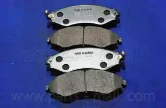 Parts-Mall PKC-008 - Kit de plaquettes de frein, frein à disque www.widencarpieces.com