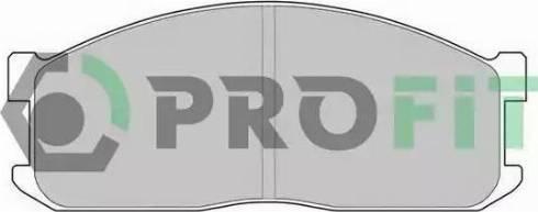 Profit 5000-0547 - Kit de plaquettes de frein, frein à disque www.widencarpieces.com
