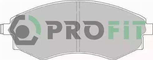 Profit 5000-0600 - Kit de plaquettes de frein, frein à disque www.widencarpieces.com