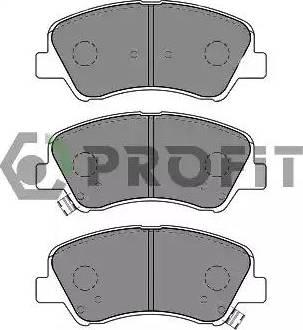 Profit 5000-0625 - Kit de plaquettes de frein, frein à disque www.widencarpieces.com