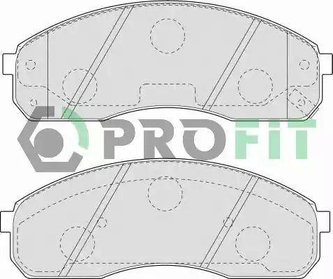 Profit 5000-1595 - Kit de plaquettes de frein, frein à disque www.widencarpieces.com