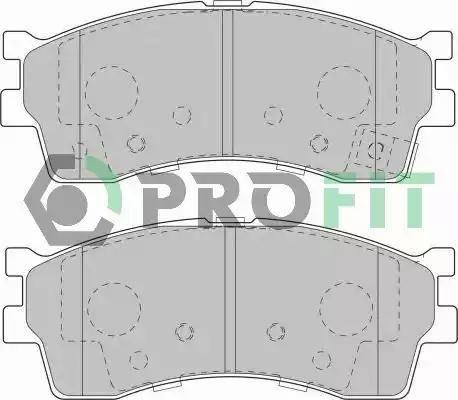 Profit 5000-1602 - Kit de plaquettes de frein, frein à disque www.widencarpieces.com