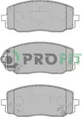 Profit 5000-1783 - Kit de plaquettes de frein, frein à disque www.widencarpieces.com