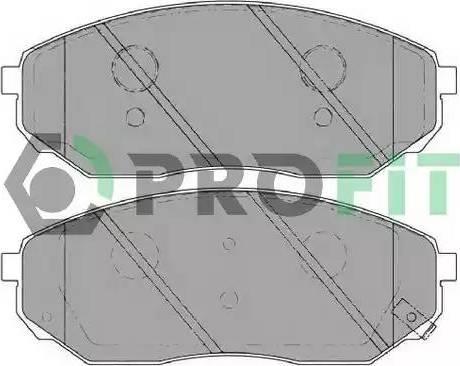 Profit 5000-1735 C - Kit de plaquettes de frein, frein à disque www.widencarpieces.com