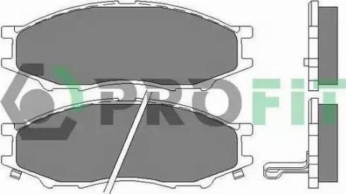 Profit 5000-2024 - Kit de plaquettes de frein, frein à disque www.widencarpieces.com