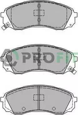 Profit 5000-2027 - Kit de plaquettes de frein, frein à disque www.widencarpieces.com