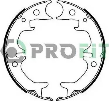Profit 5001-4008 - Jeu de freins, freins à tambour www.widencarpieces.com