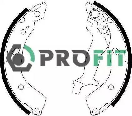 Profit 5001-4083 - Jeu de freins, freins à tambour www.widencarpieces.com